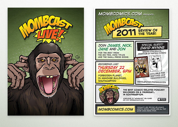A5 flyer promoting MOMBcast Live