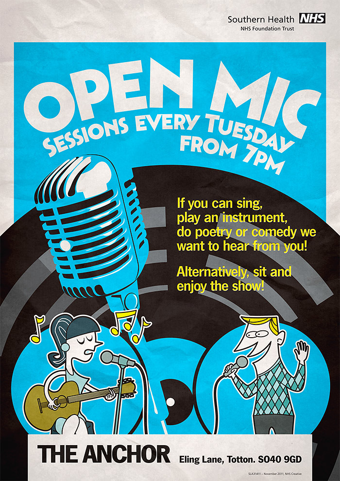 Open Mic night poster in full