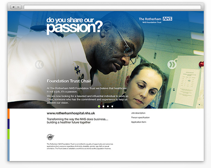 Introductory page of Share Our Passion microsite